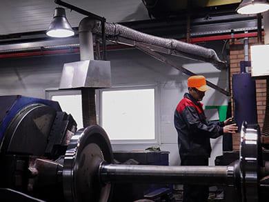 Высококвалифицированные специалисты готовы произвести текущий ремонт колесных пар типа ру1ш-957, ру1-957, РВ2Ш, а также средний ремонт колесных пар типа ру1ш-957, ру1-957, РВ2Ш